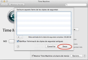 opcions time machine